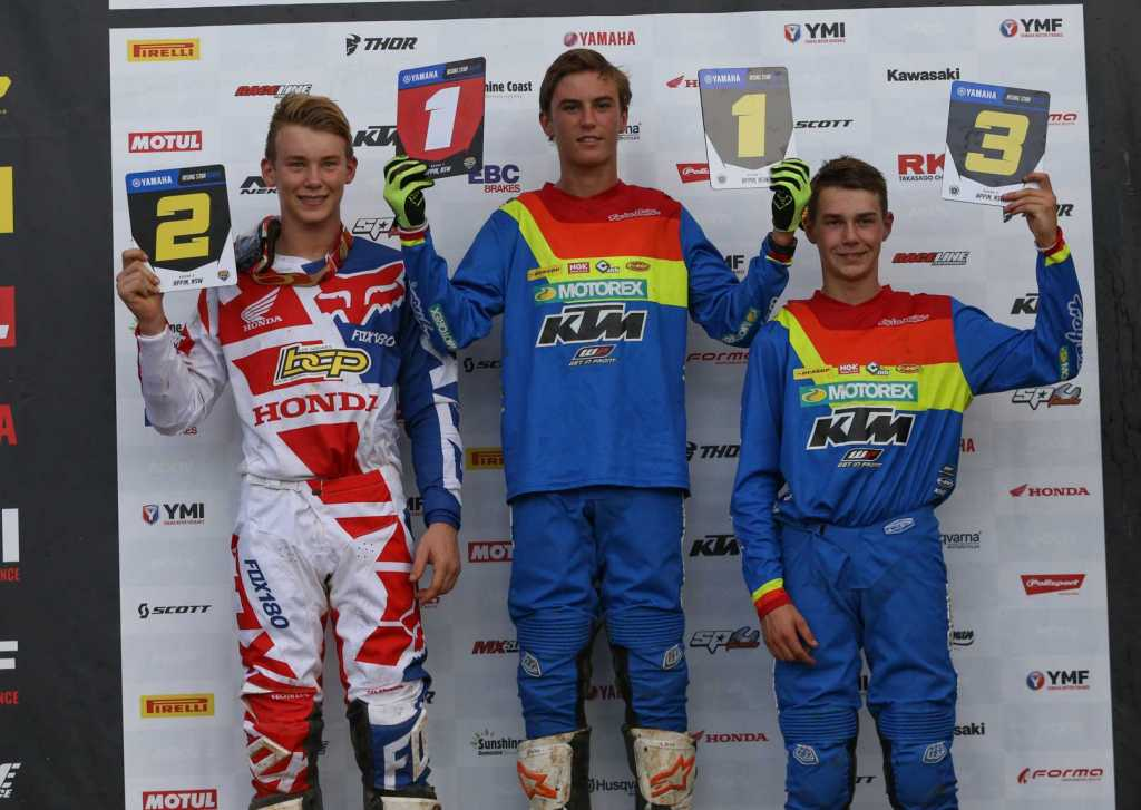 Yamaha Rising Star Rookies - Points - Appin MX Nationals 2018 Regan Duffy 70 Dante Hyam 62 Blake Fox 60