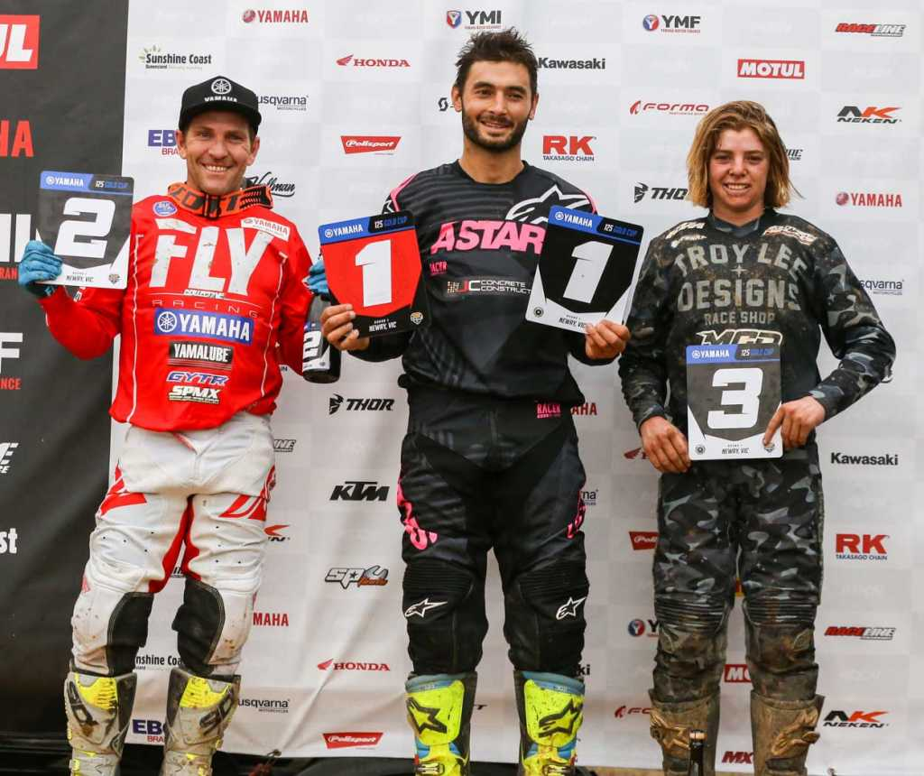 Yamaha 125 Gold Cup Results Round One Justin Carafa 70 2. Cameron Taylor 64 3. Tyler Darby 60