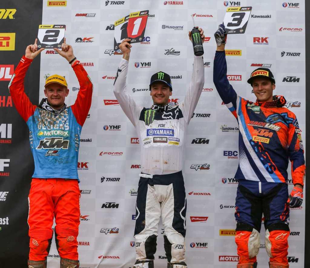 Pirelli MX Nationals Rd1 Newry - MX1 Results Dean Ferris (Yamaha) 70 Kirk Gibbs (KTM) 64 Mitch Evans (KTM) 56