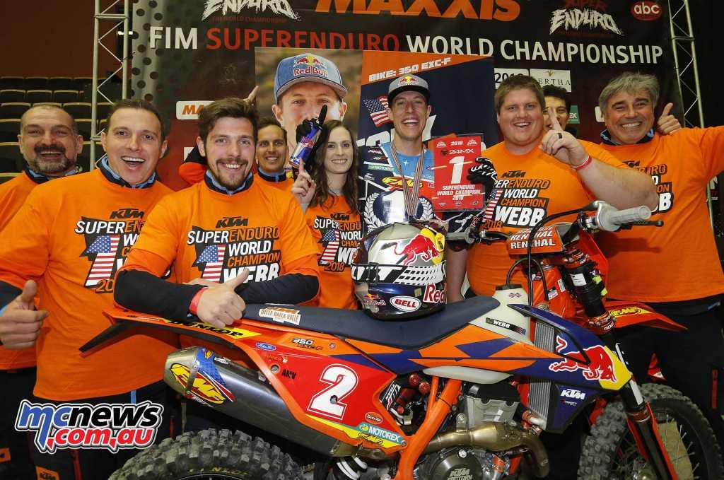 2018 FIM SuperEnduro World Champion - Cody Webb