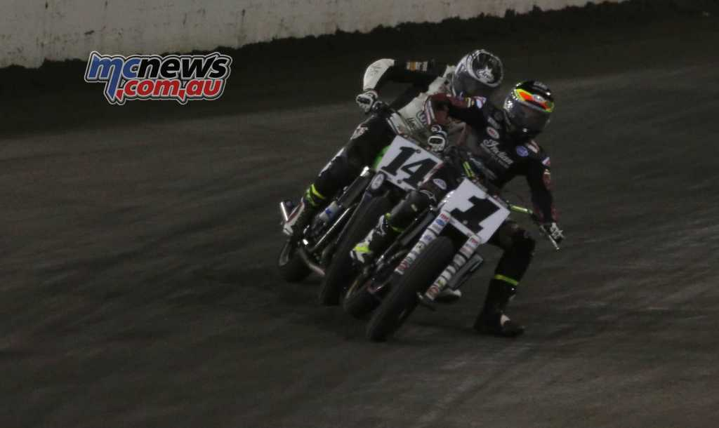 Briar Bauman and Jared Mees tussle at the Texas Half Mile
