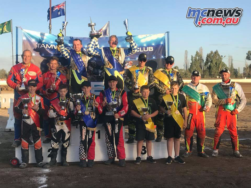 Darrin Treloar and Jesse Headland added the 2018 Australian Speedway Sidecar Championship to their medal tally in 2018