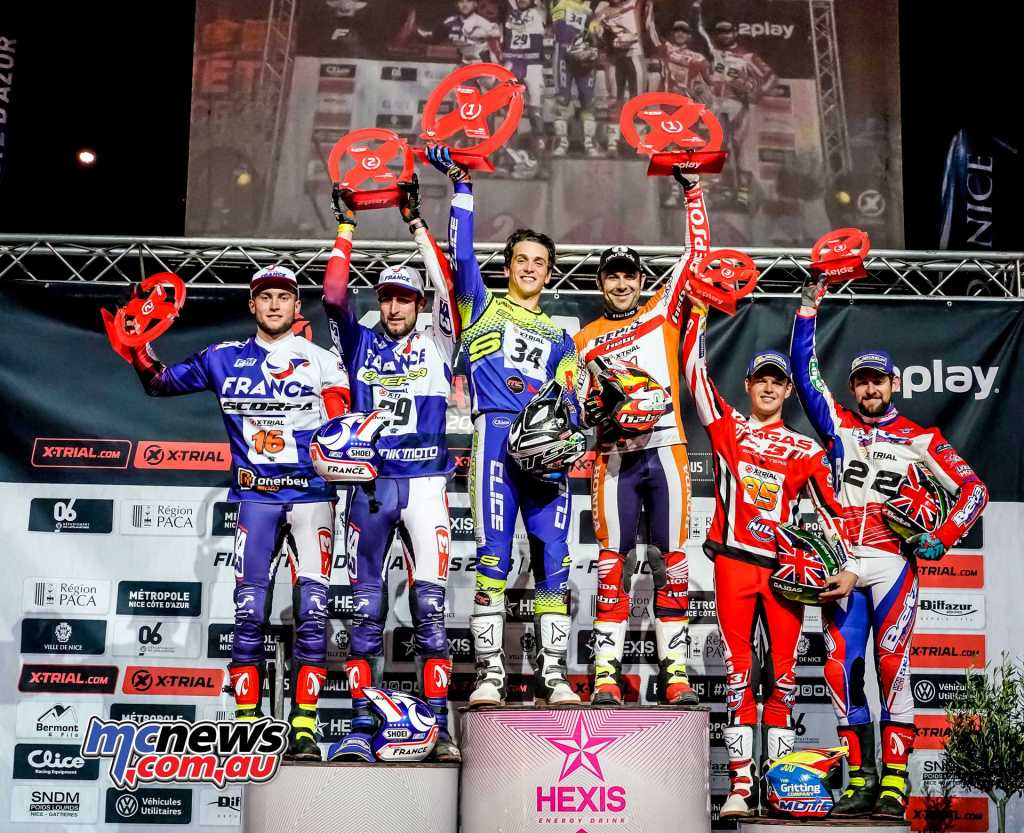Toni Bou and Miquel Gelabert came from behind to extend Spain's unbeaten run in the X-Trial of Nations