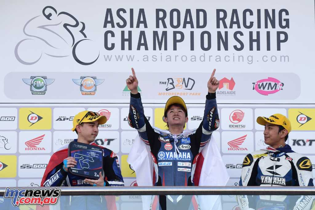 Ito topped the Supersport podium from Wilairot and Rosli