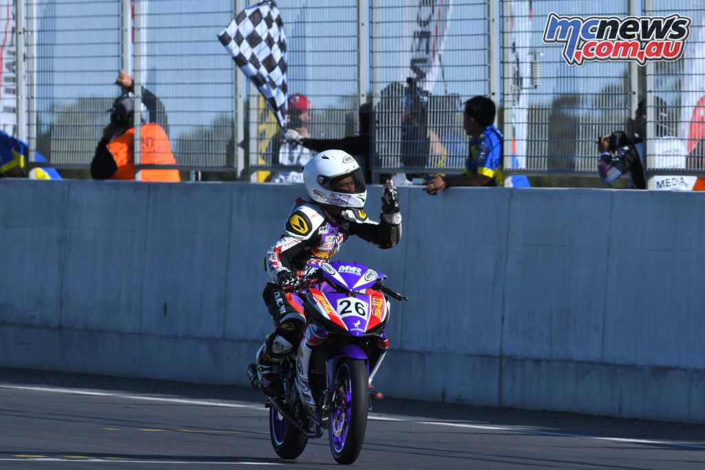 Md Haziq Md Fairues took the Underbone 150 win