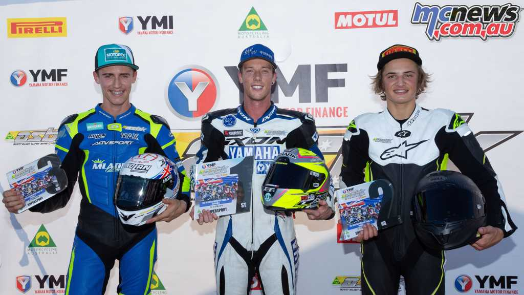 Halliday tops the overall round podium from Toparis and Croker