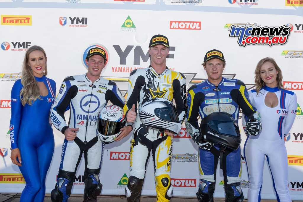 Supersport 300 Race One Results Hunter Ford - Yamaha Tom Bramich - Yamaha +0.311 Zac Levy - Yamaha +1.112