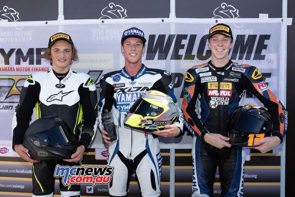 Supersport Race One Results Cru Halliday - Yamaha Tom Toparis - Kawasaki +2.830 Broc Pearson - Yamaha +10.849