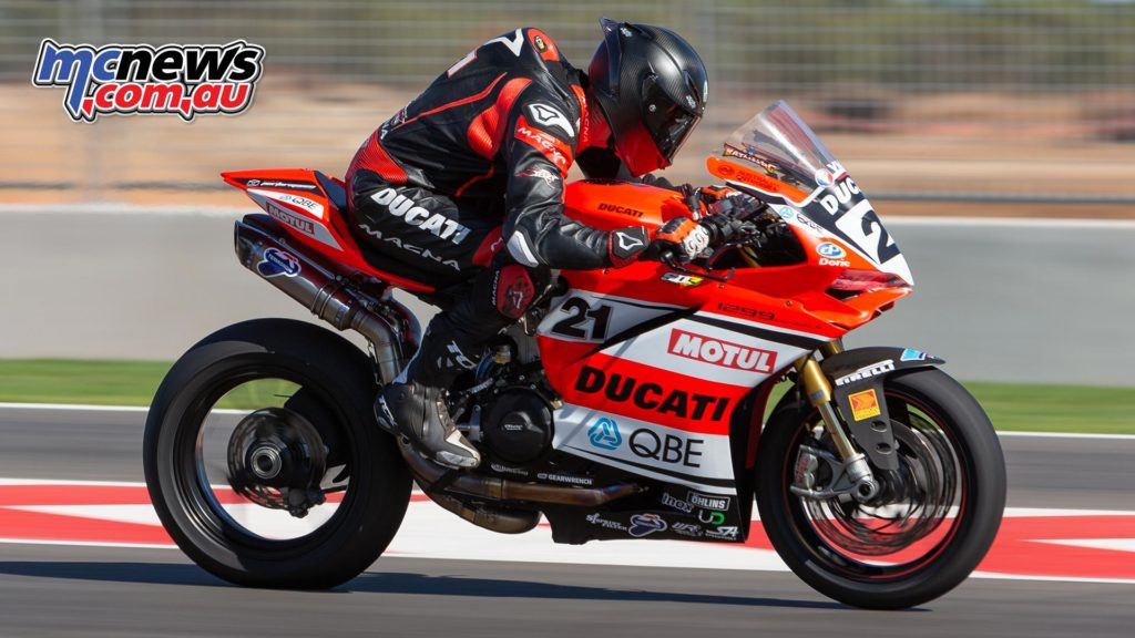 Troy Bayliss tops Thursday proceedings at The Bend - TBG Image