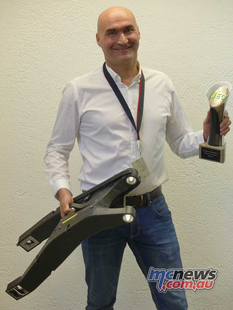 Dr. Joachim Starke was there to receive the award on behalf of the team as a whole.