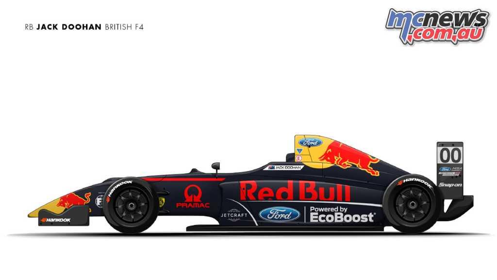 The Red Bull Jack Doohan British F4