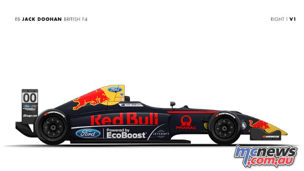 The Red Bull Jack Doohan British F4