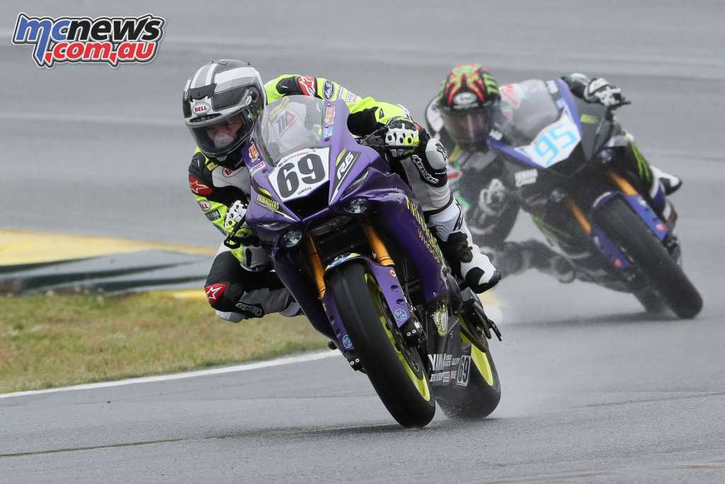 On Sunday Hayden Gillim turned the tables in the wet and took the Race 2 win