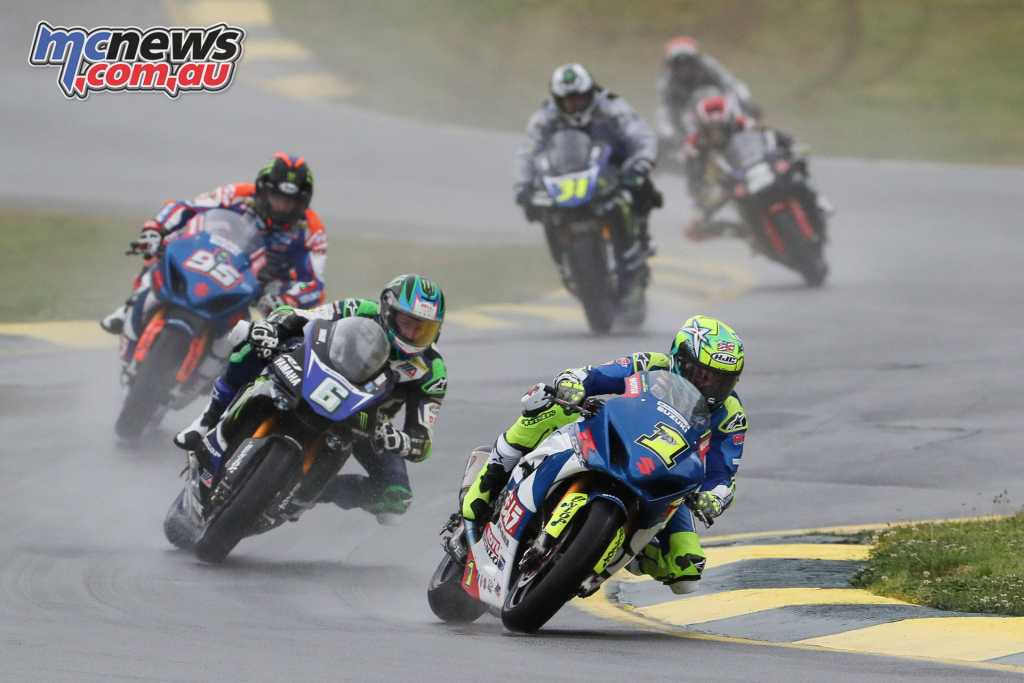 Sunday saw challenging wet conditions