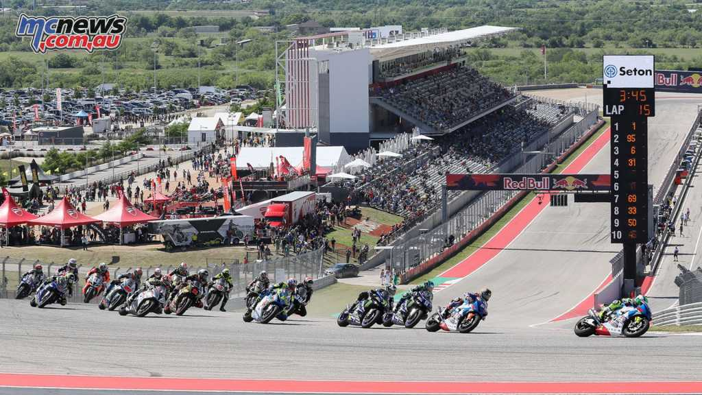 The Motul Superbike field at COTA