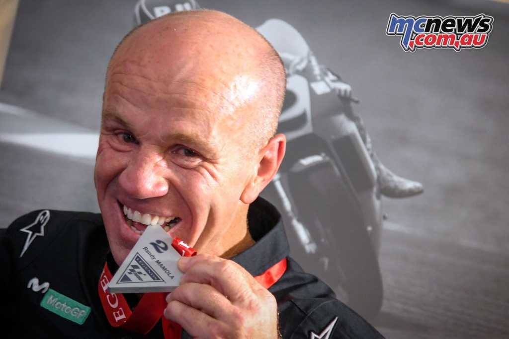 Randy Mamola is inducted into the World Championship Hall of Fame