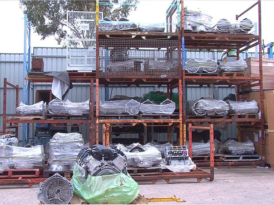 Police alleged more than 200 engines and transmissions were stolen from Holden's Elizabeth plant - SA Police Photo