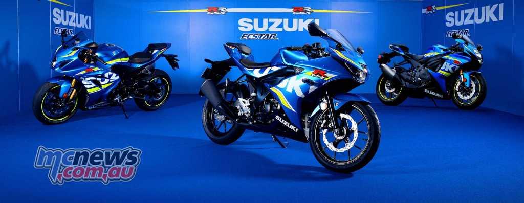 Suzuki GSX-R125 alongside its big brothers