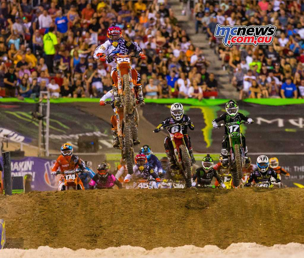 McElrath in the 250SX lead at Las Vegas