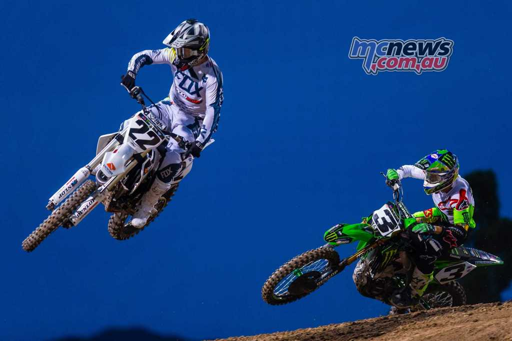 Reed and Tomac battling it out