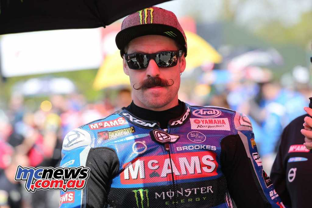 Josh Brookes is currently sporting one awesome Mo! - Image Dave Yeomans