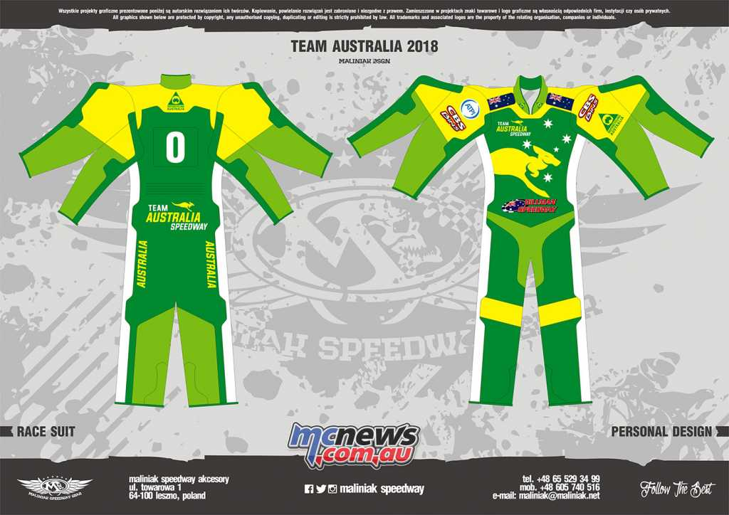 New Australian Team colours for FIM Speedway of Nations