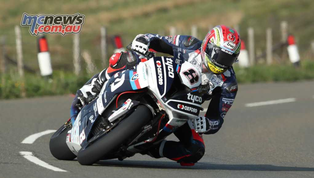 Dan Kneen during TT practice this week at the Isle of Man