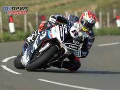 Dan Kneen during TT practice this week at the Isle of Man