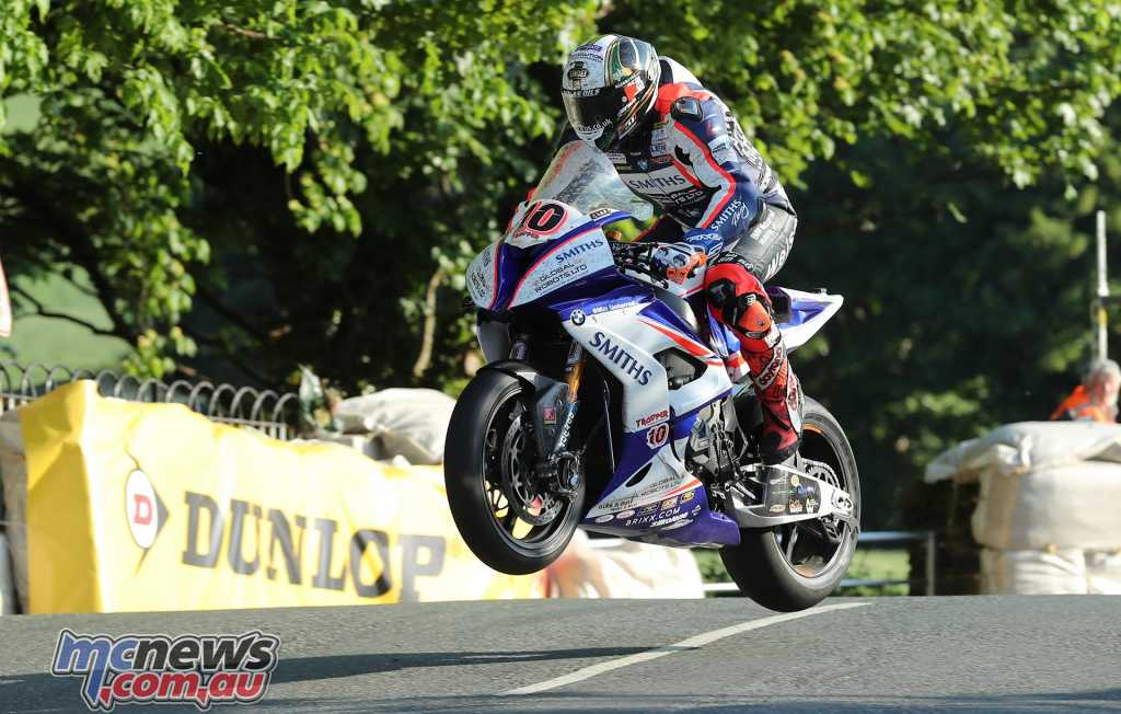 Peter Hickman at Ballaugh Bridge