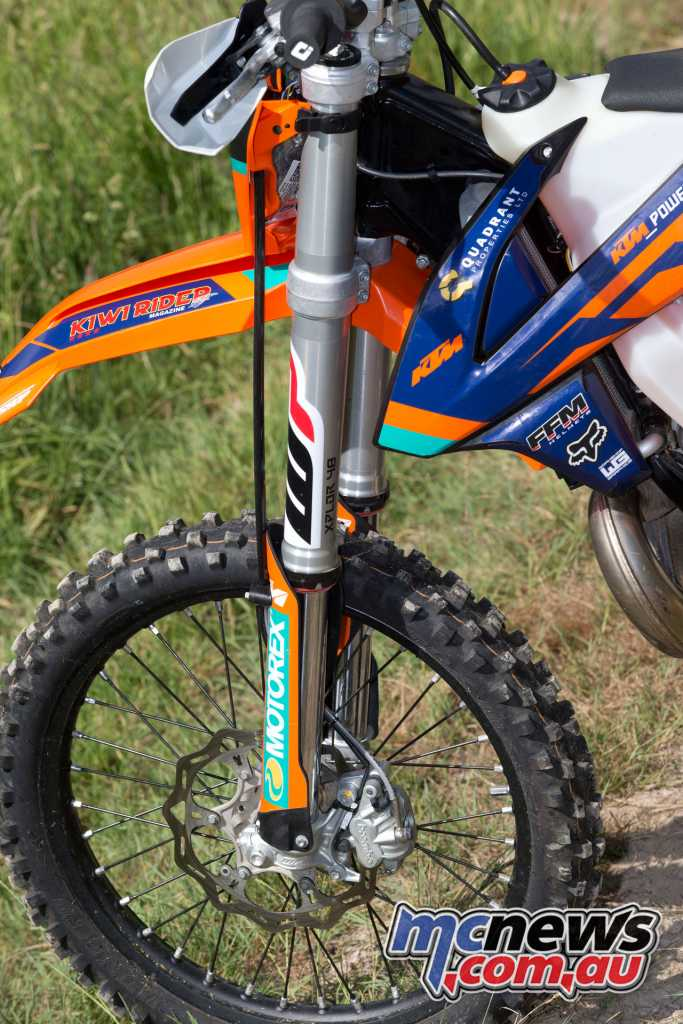 WP 48mm Xplor USD telescopic forks offer adjustability