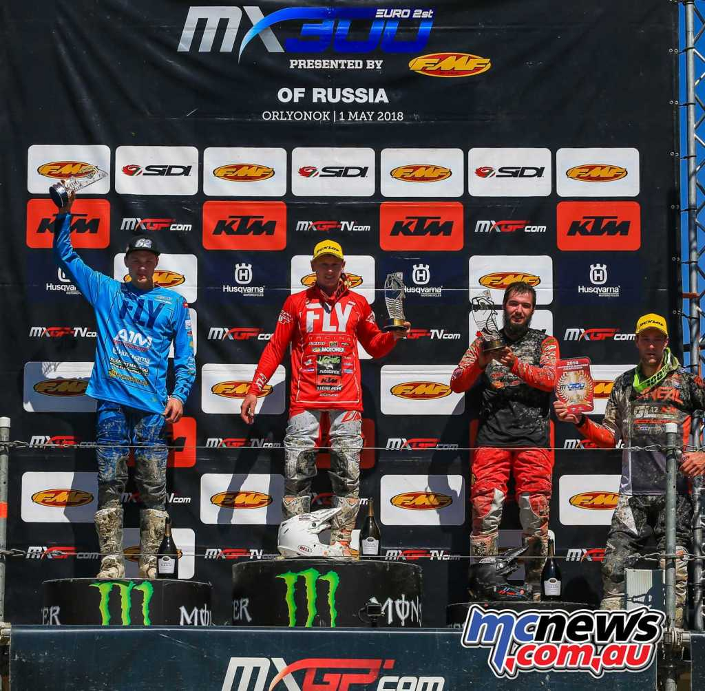 Overall Top Ten: 1. Brad Anderson (GBR, KTM), 45 points; 2. Andero Lusbo (EST, HUS), 43 p.; 3. Vaclav Kovar (CZE, GAS), 42 p