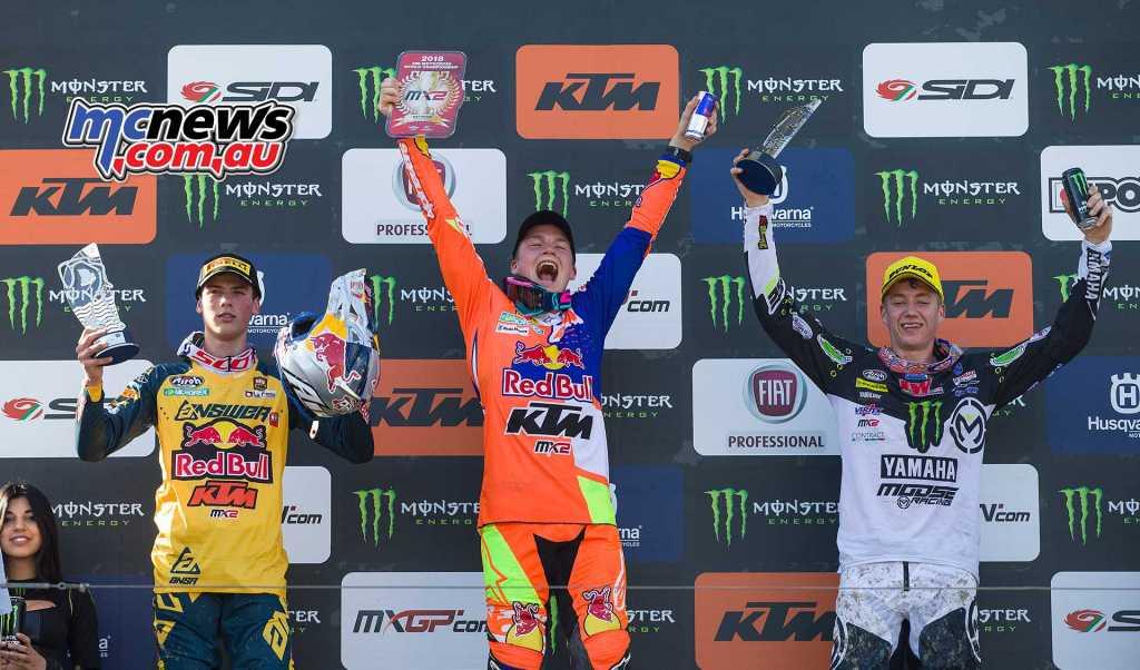 MX2 Overall Top Ten Pauls Jonass (LAT, KTM), 50 points Jorge Prado (ESP, KTM), 44 p. Ben Watson (GBR, YAM), 35 p.