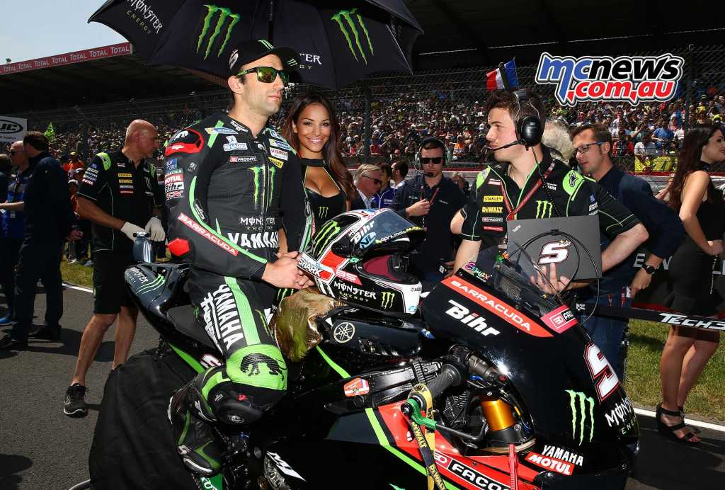 Zarco was racing in front of 105,000 French fans