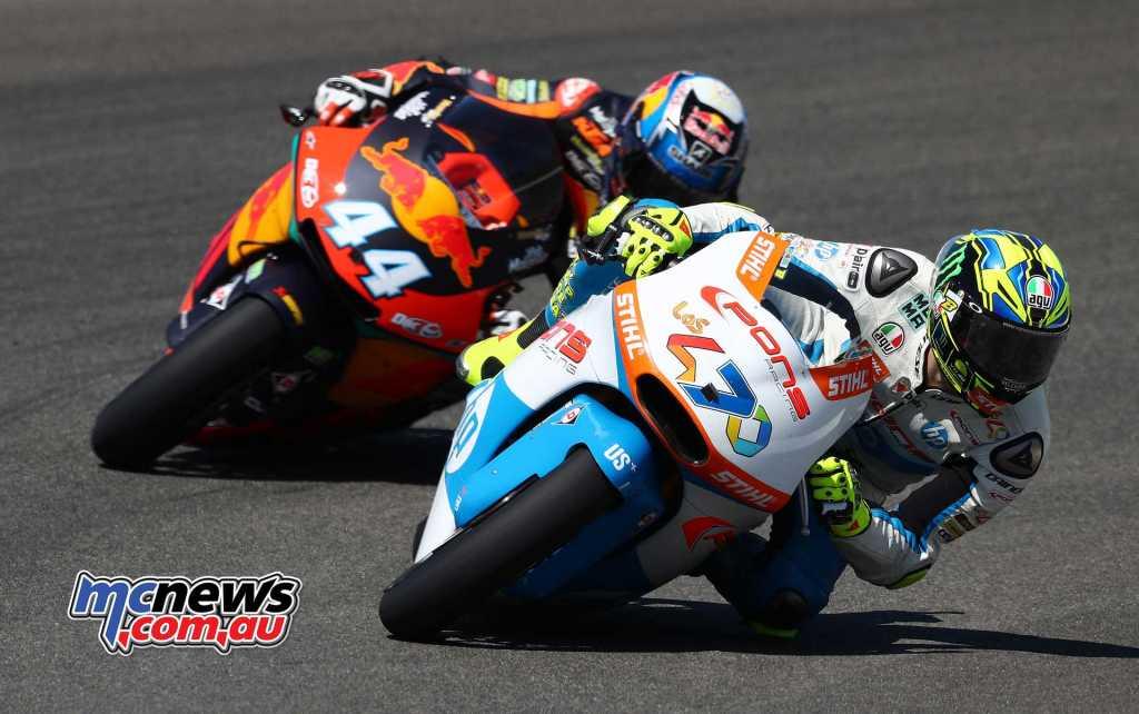 MotoGP 2018 - Lorenzo Baldassari leads Miguel Oliveira - Image by AJRN