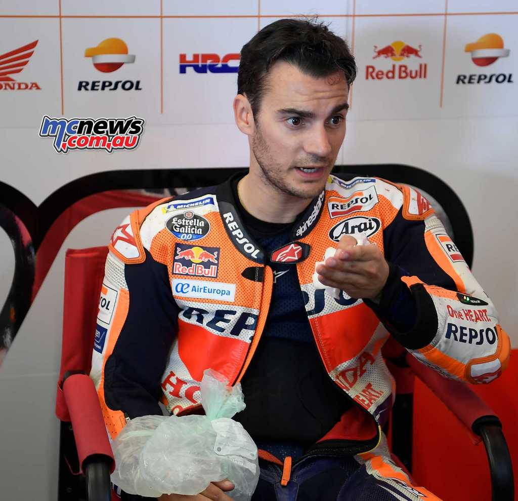 Pedrosa impressed once again, second quickest despite his recent broken wrist and surgery
