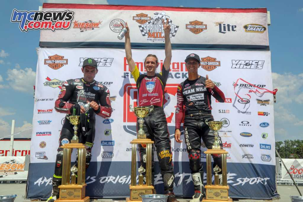 Jeffrey Carver Jr topped the Springfield Mile I podium