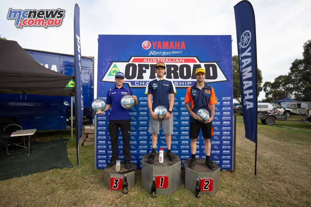 Sanders topped the E2 Round 4 podium from Snodgrass and Green
