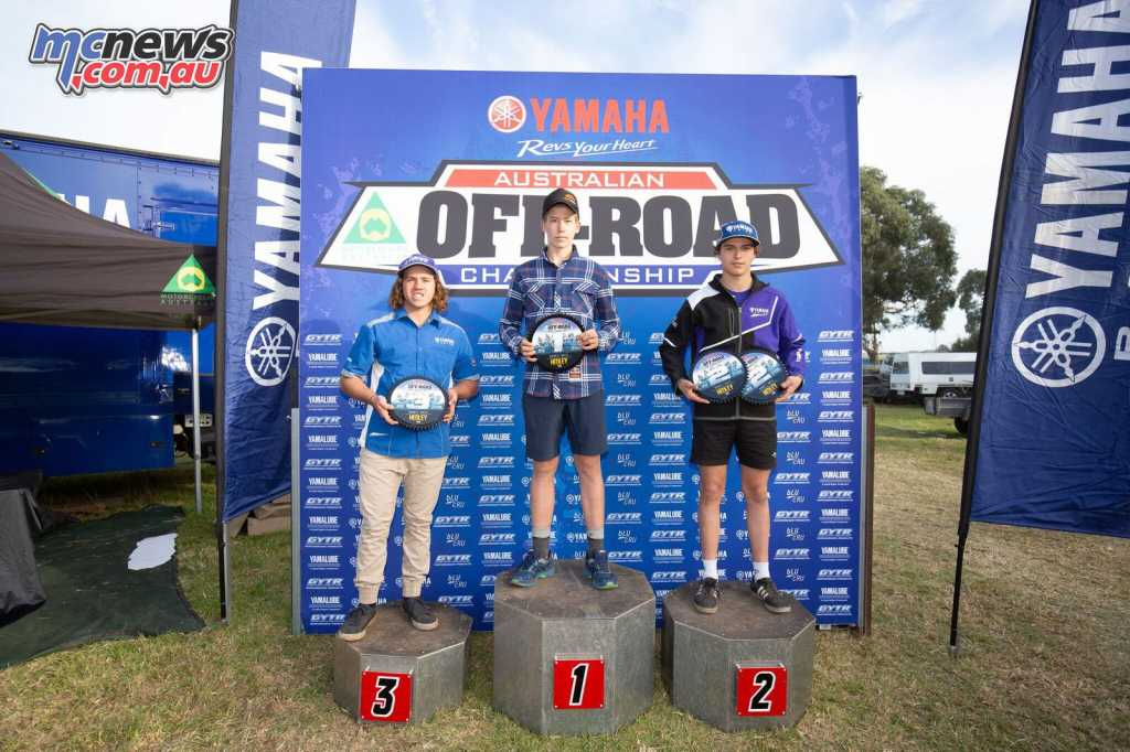 Will Riordan topped the J3 Round 4 podium from Blake Hollis and Ned Chapman