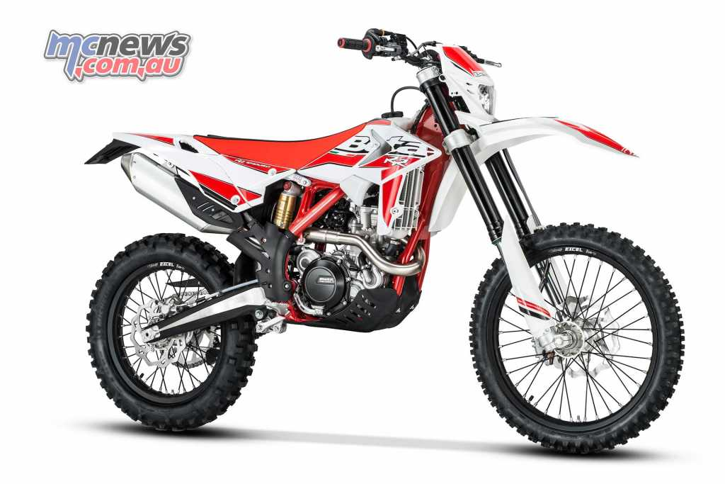 Beta offer both four-stroke and two-stroke enduro machines