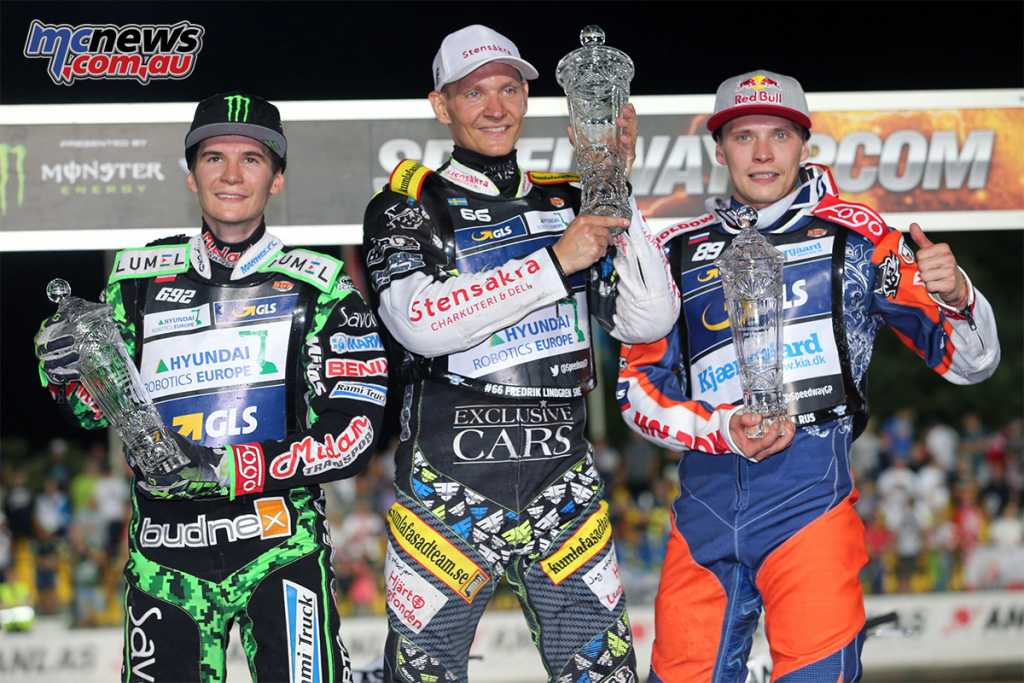 Czech Republic FIM Speedway Grand Prix Podium