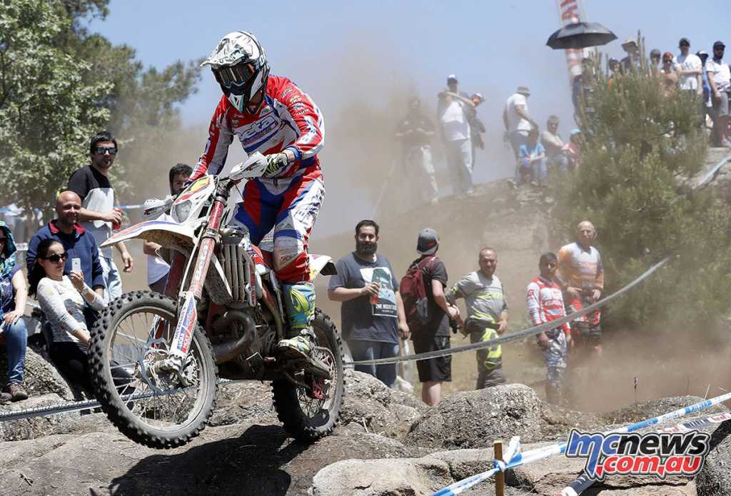 Steve Holcombe at the Portugal EnduroGP - Image by Future7Media