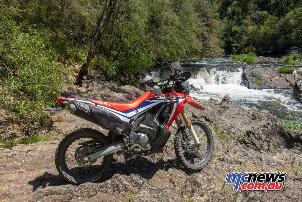 Honda CRF250 Rally at Enoch Falls