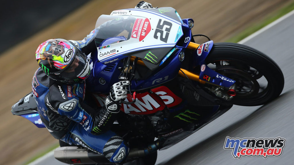 Josh Brookes on the McAMS Yamaha