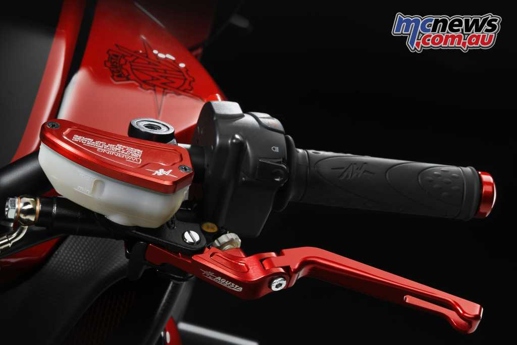 Numerous other details are found on the Brutale LH44, making this a true collectors machine