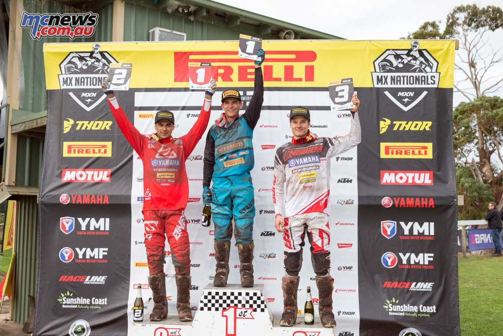 Kyle Webster topped the MX2 Podium