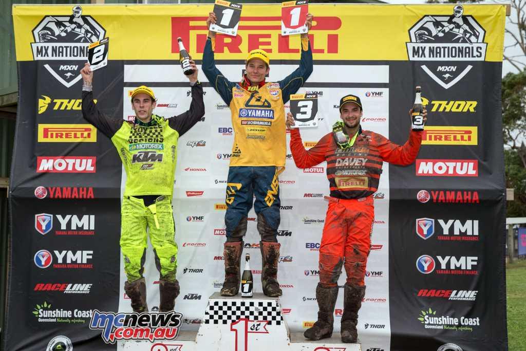 Pirelli MX2 Podium - Round 4, MX Nationals, Wonthaggi 2018 -