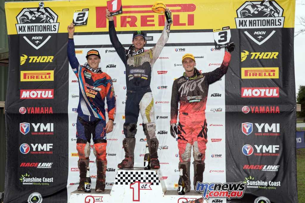 Thor MX1 Podium - Round 4, MX Nationals, Wonthaggi 2018 -