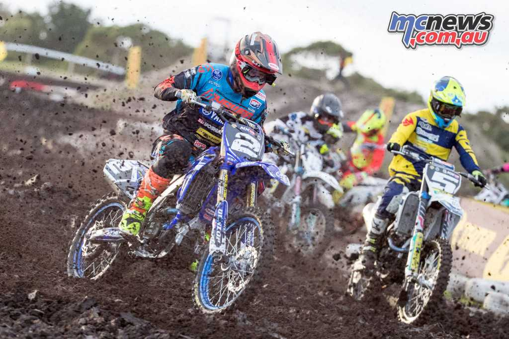 Wilson Todd leading the MX2 field