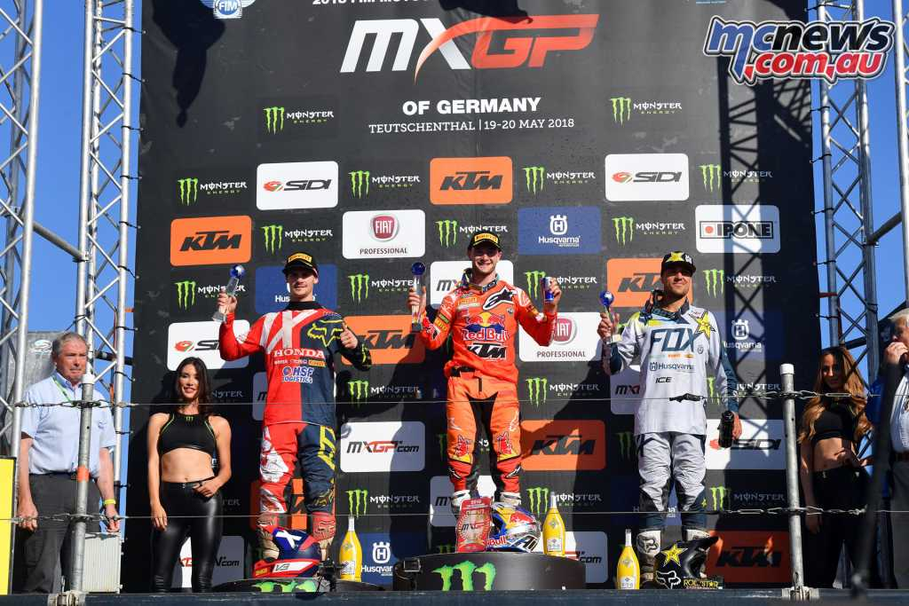 MXGP Podium - Germany 2018