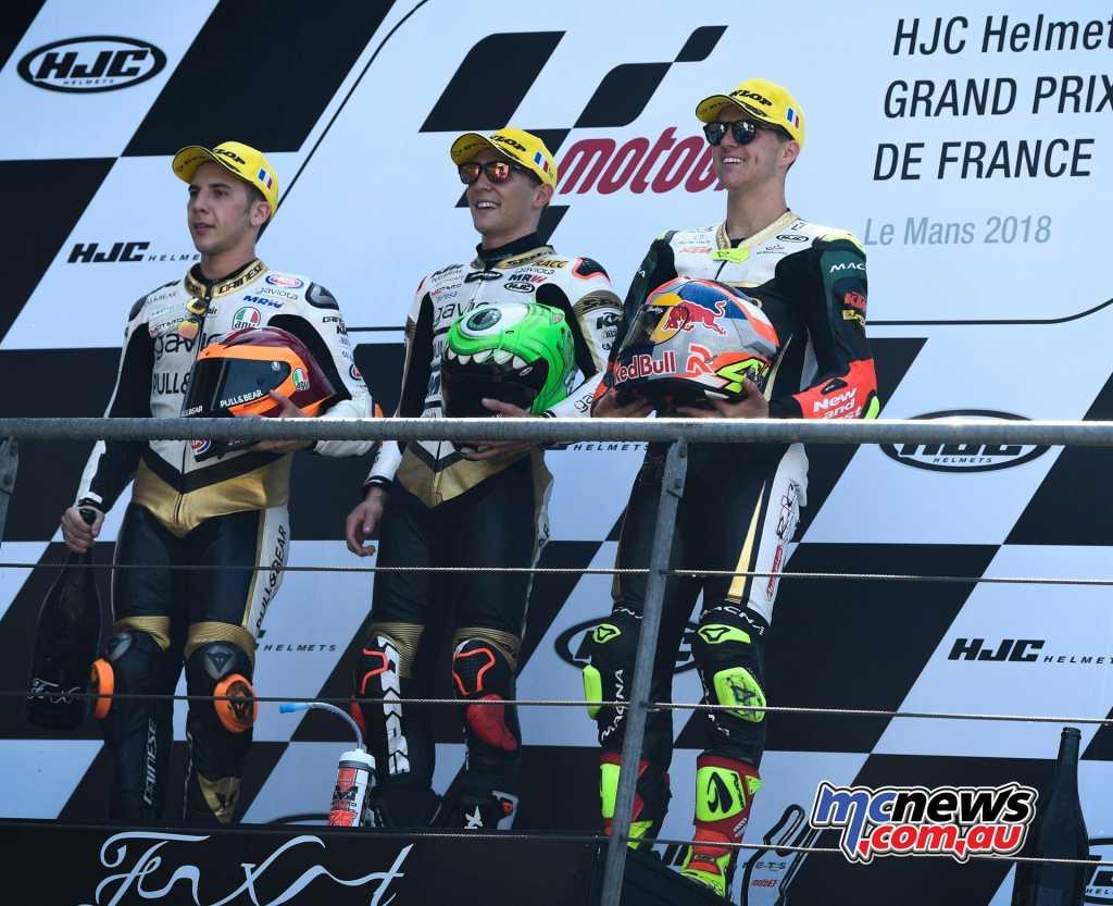 Moto3 Race Results Albert Arenas (SPA) KTM 37'40.056 Andrea Migno (ITA) KTM +0.160 Marcos Ramirez (SPA) KTM +0.709